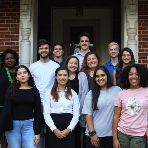 photo of Gaines Fellows with Director Melynda Price