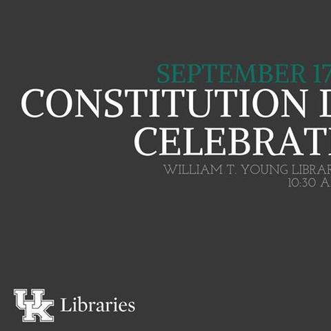 photo of web banner for UK Libraries Constitution Day celebration