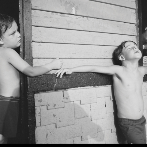 "photograph ""Covington, Kentucky"" gelatin silver contact print by Nicholas Nixon"