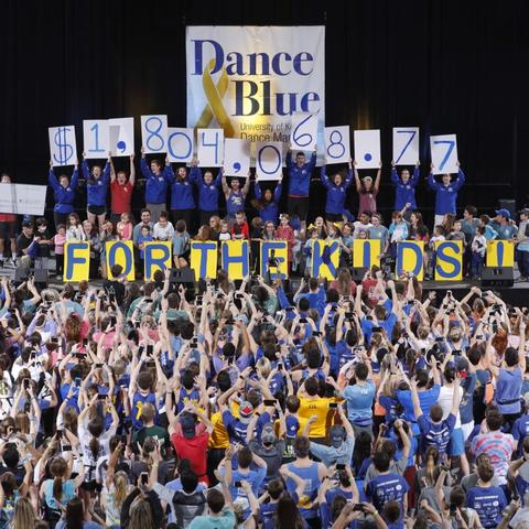 photo of the DanceBlue fundraising reveal