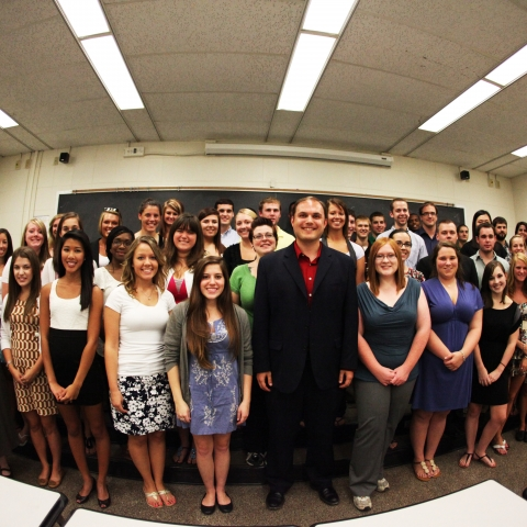Nathan DeWall and his students in the UK Social Psychology Lab