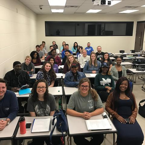 photo of sociology class that produced winning video