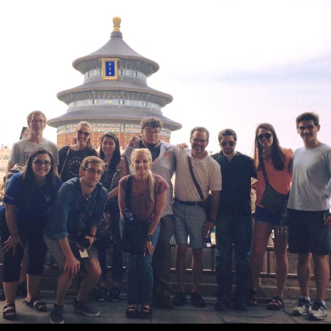 photo of group of Gaines Fellows in China with their directors