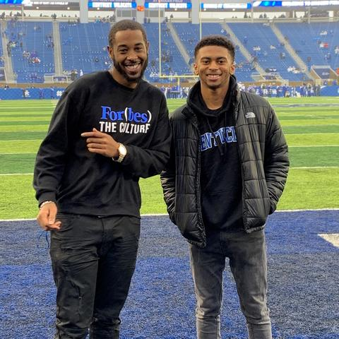 photo of Carlos Lewis and Ryan Page at Kroger Field