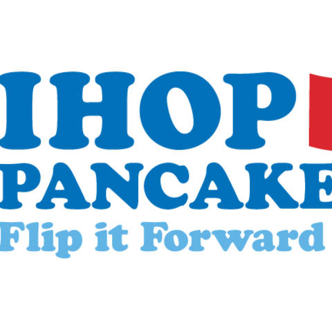 graphic advertising free pancake day at IHOP