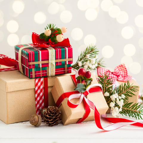 photo of wrapped presents