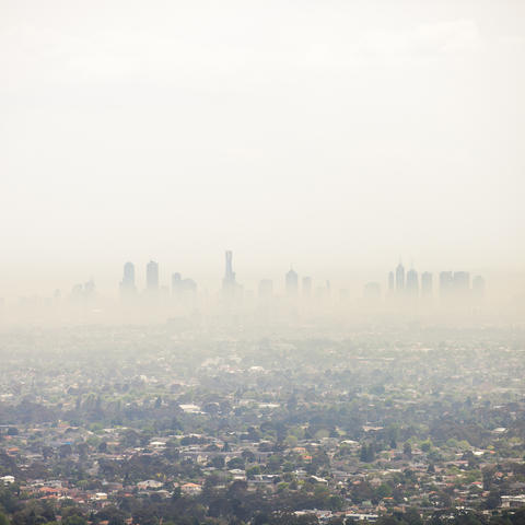 photo of city with air pollution