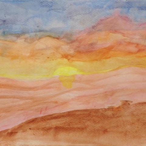 "artwork of sun from ""Inspiring Attempts"" exhibtion"