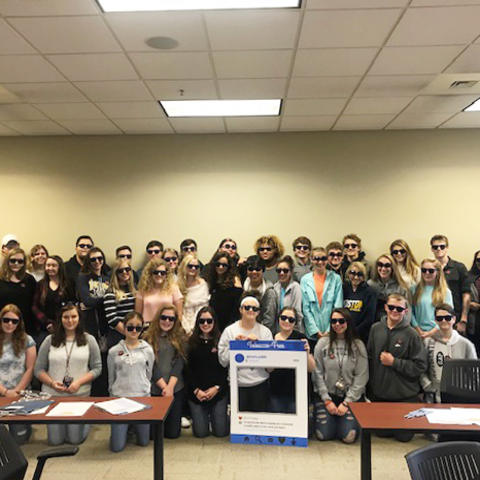 Photo of student participants in tobacco-free advocacy training
