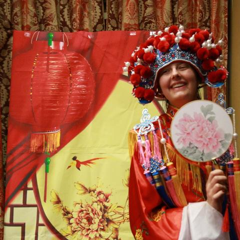 photo of student in costume at Confucius Institute Student Night