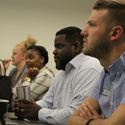 Students participate in unconscious bias training