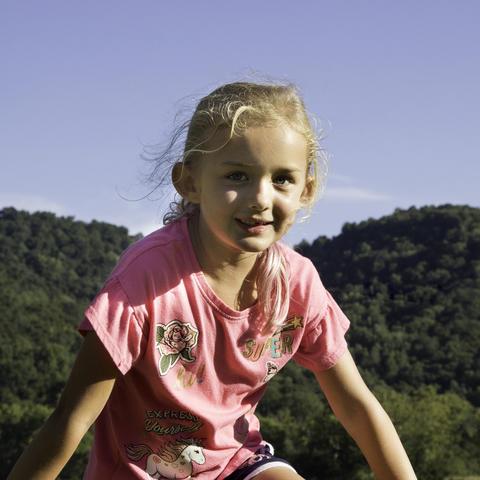 Photo of Danika Stevens at her home in Estill County
