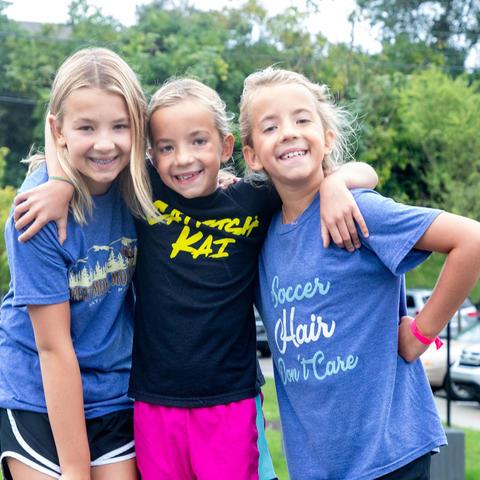 image of three girls