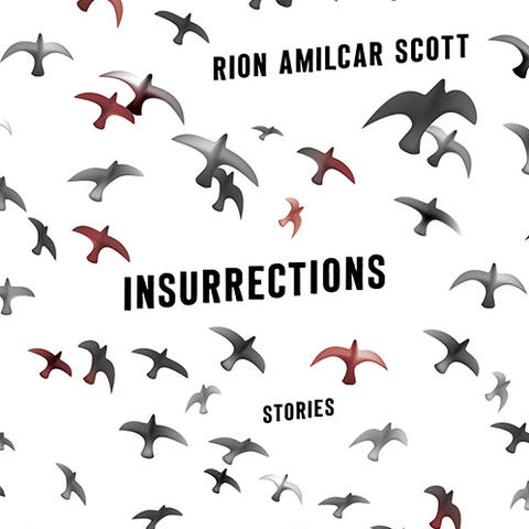 """photo of cover of """"Insurrections: Stories"""" by Rion Amilcar Scott"""