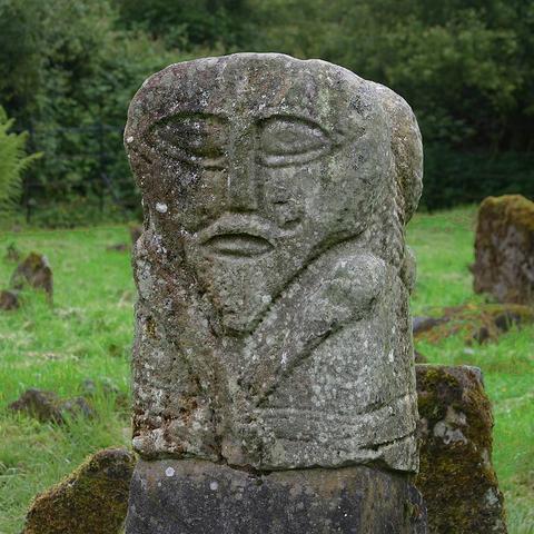 Janus Face Stone Figure, Boa Island, County Fermanagh, Ireland