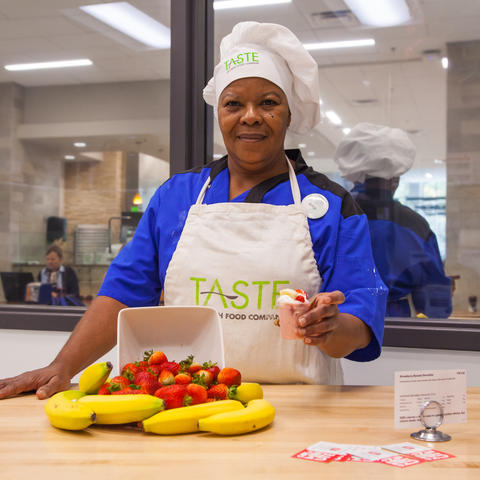 Joyce Bolton, UK Dining employee