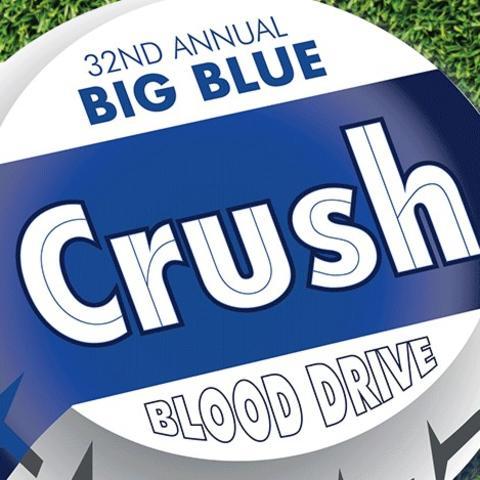 logo that says 32nd Annual Big Blue Crush Blood Drive