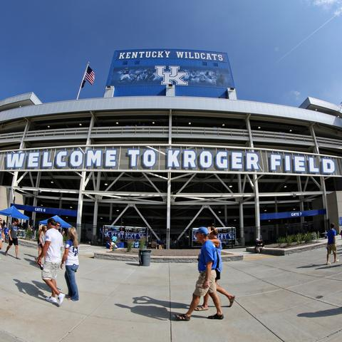 Photo of Kroger Field signage