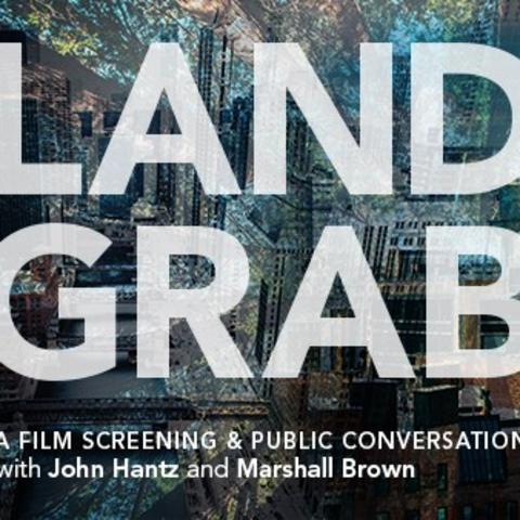 "photo of web banner for ""Land Grab"" screening"