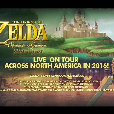"""Legend of Zelda: Symphony of the Goddesses"" tour artwork"