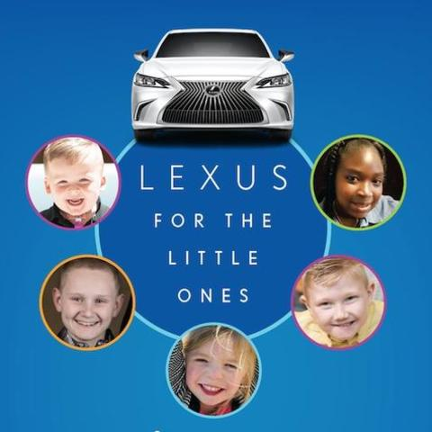 graphic featuring a lexus car and photos of pediatric patients.