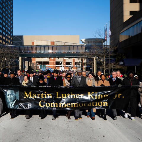 photo of last year's Freedom March in downtown Lexington