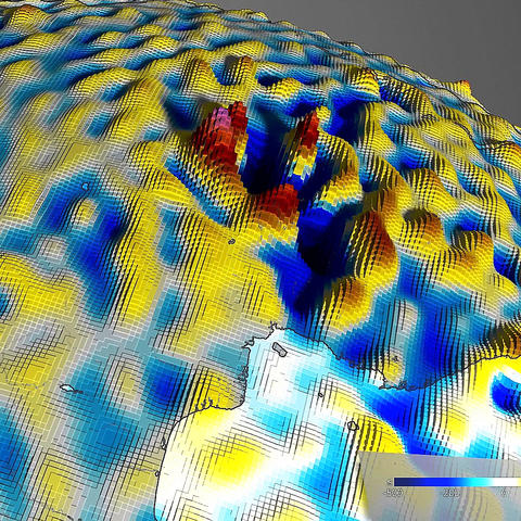 photo of lithospheric magnetic field