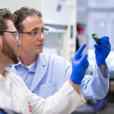 Photo of Dr. Matthew Gentry in his lab