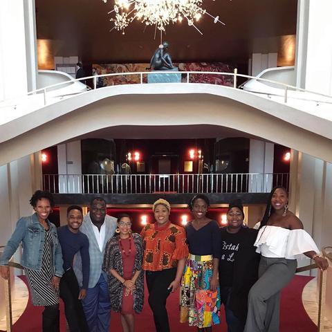 photo of Makeda Hampton, Markel Reed, Reginald Smith Jr, at Met