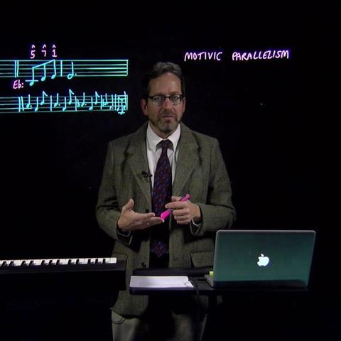 """photo of Kevin Holm-Hudson teaching a lesson from """"Music Theory Remixed"""""""