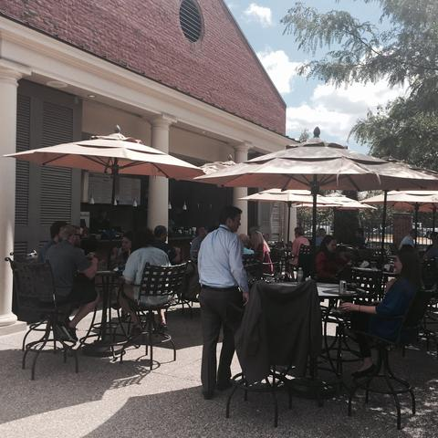 Patrons visit the Boone Center Grill