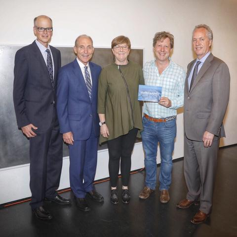 photo of David Biagi, President Capilouto, Dean Mitzi Vernon, Gill Hollland, Mayor Fischer