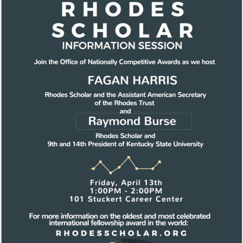 photo of Rhodes Scholar information session poster