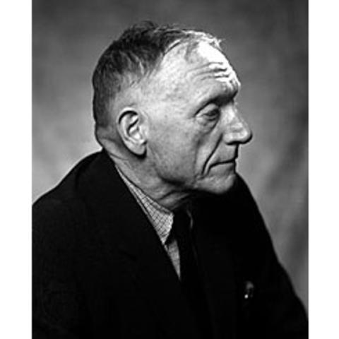 black and white profile photo of Robert Penn Warren