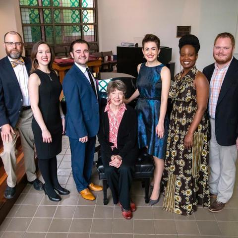 photo of Marlon Hurst, Kayleen Sánchez, Joseph Kingsbury, Audrey Rooney, Amy Broadbent, Tanyaradzwa Tawengwa and Zach Klobnak