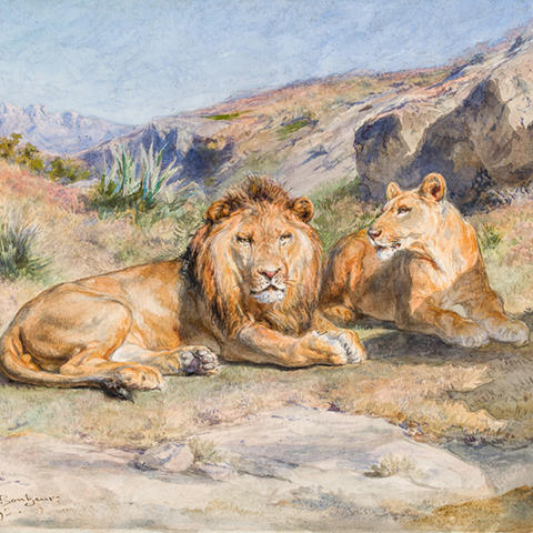 "painting ""Royalty at Home"" by Rosa Bonheur"