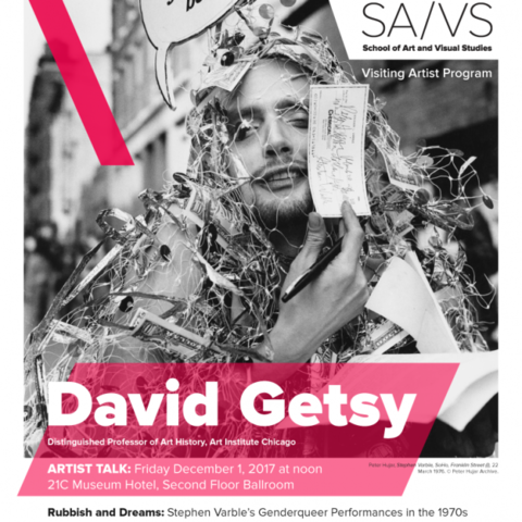 photo of David Getsy lecture poster