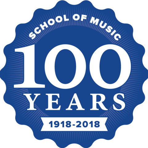 photo of 100 anniversary seal for School of Music