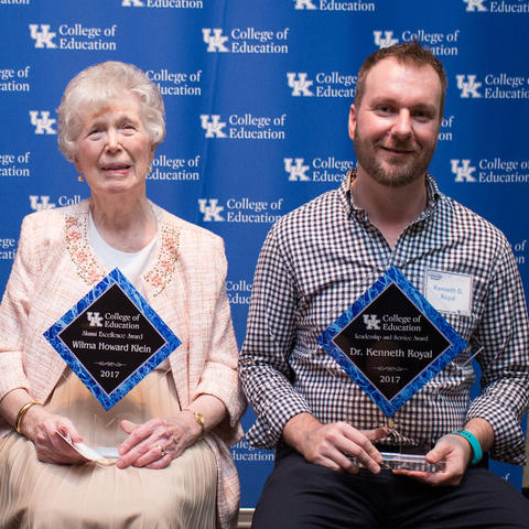 Photo of UK College of Education alumni award winners
