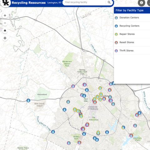 UK Recycling's Interactive Resource Map