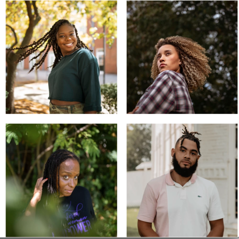 """Akhira Umar's project, titled """"Black Hair: Back to Their Roots,"""" focuses on the often-politicized subject of African American hair."""