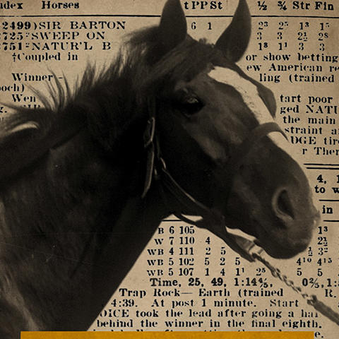 "photo of cover of ""Sir Barton and the Making of the Triple Crown"" by Jennifer S. Kelly"