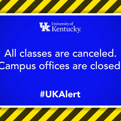 graphic saying classes canceled