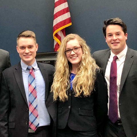Photo of Trial Advocacy Board Mock Trial team