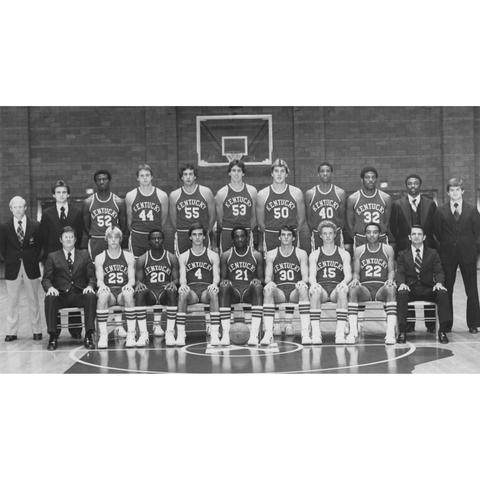photo of 1977-78 UK men's basketball team