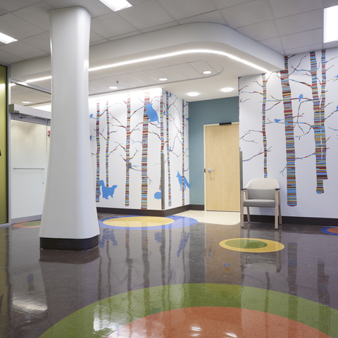 The new child neurology clinic at Turfland was designed as a child-friendly space.