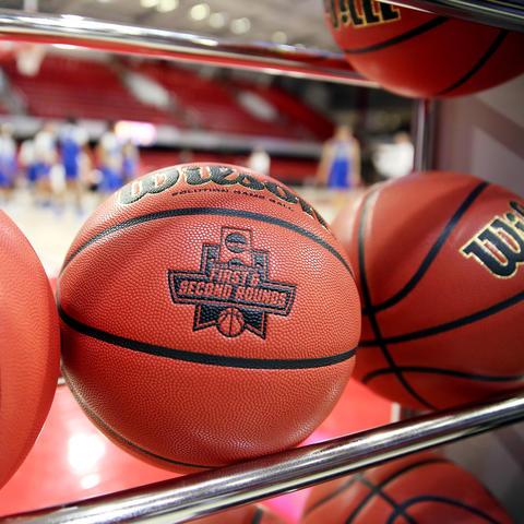 photo of basketballs