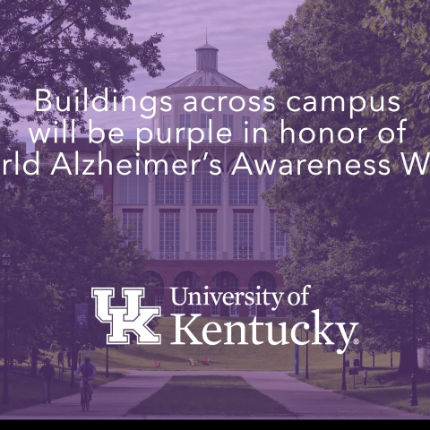 UK's campus will turn purple this week in honor of World Alzheimer's Awareness Month