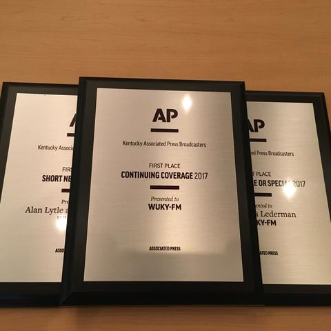 Photo of WUKY's AP awards