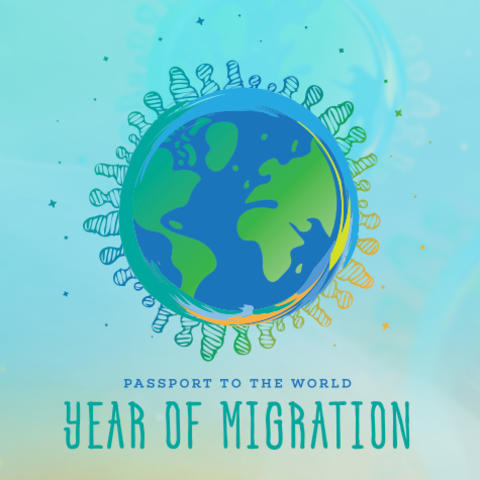 photo of Passport to the World/Year of Migration graphic